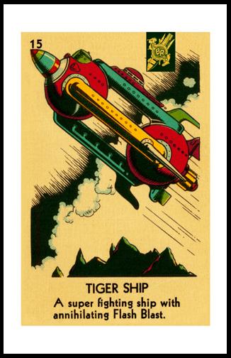 buck rogers tiger ship framed poster