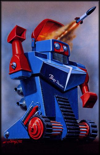 Baby Thunder Robot Commando Poster Framed