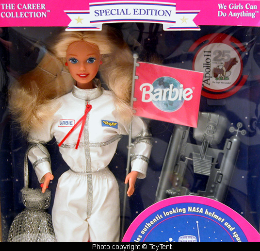 Image result for We Girls Can Do Anything Astronaut Barbie 1994