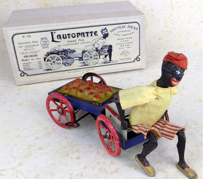 L'Autopatte fruit vendor vintage wind-up toy made in France