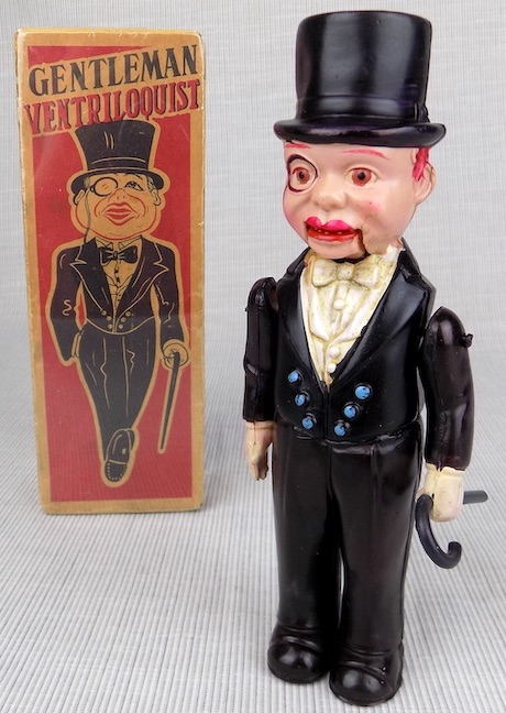 Charlie McCarthy Gentleman Ventriloquist celluloid wind-up toy Japan